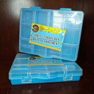 Other - 2/pcs Multi-Purpose Blue Plastic Craft Boxes